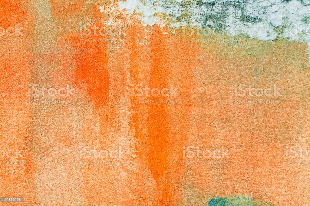 Abstract painted orange  art backgrounds. royalty-free stock photo