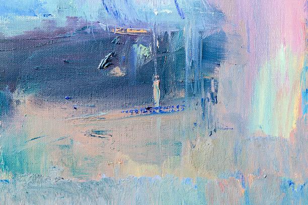 abstrakt gemalte lila und blau strukturierte art-hintergrund. - acrylbilder modern stock-fotos und bilder