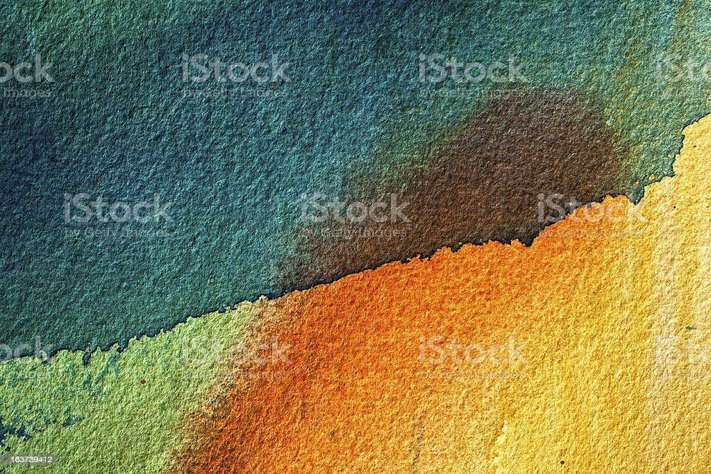 Abstract painted red and green art backgrounds. stock photo