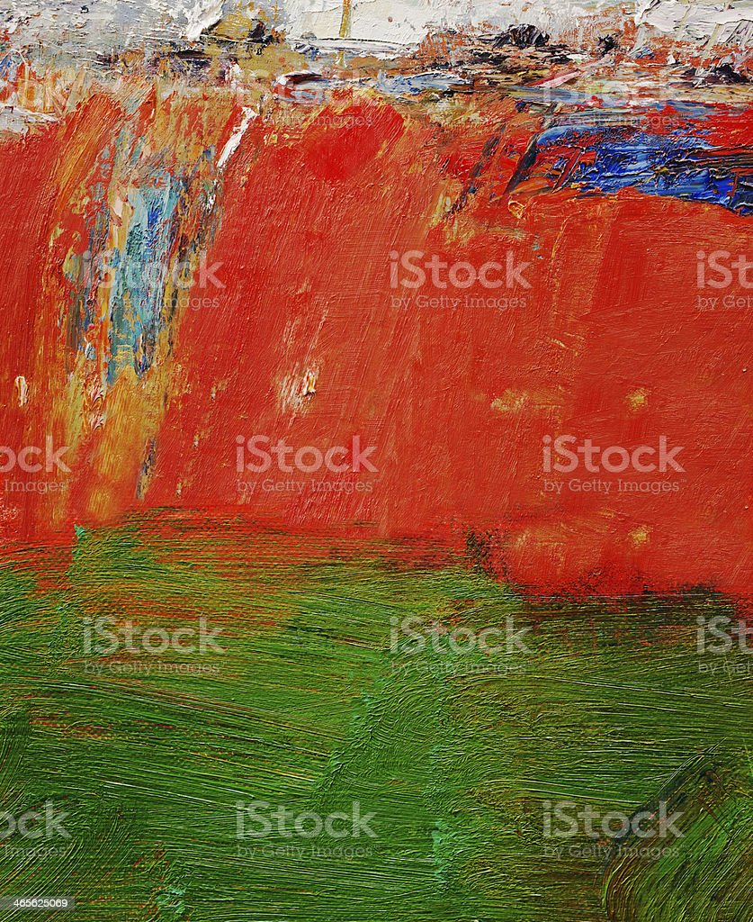 Abstract painted red  and green art backgrounds. royalty-free stock photo