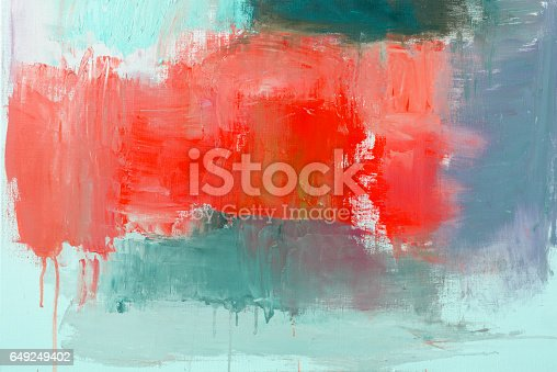 istock Abstract painted red and green art backgrounds 649249402