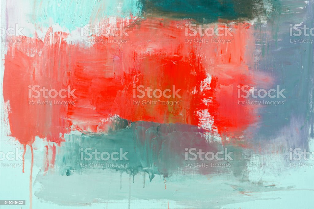 Abstract painted red and green art backgrounds stock photo