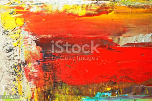 istock Abstract painted red and yellow  art backgrounds. 171137472