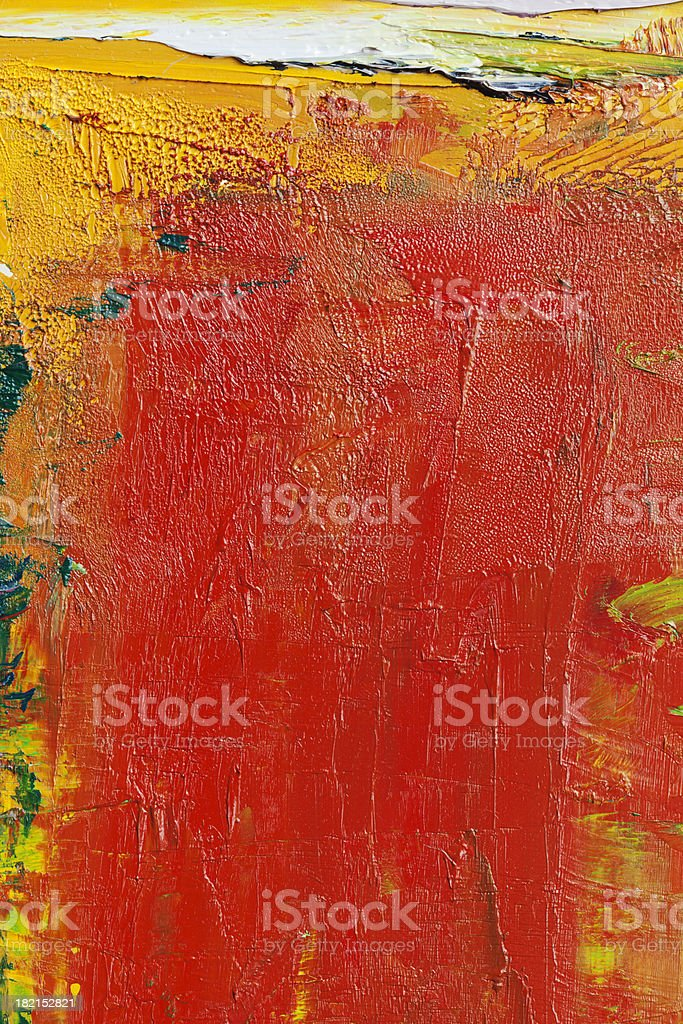 Abstract painted red  and yellow art backgrounds. royalty-free stock photo
