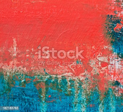 istock Abstract painted red art backgrounds. 182183763
