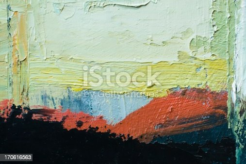 istock Abstract painted red black and green art backgrounds. 170616563