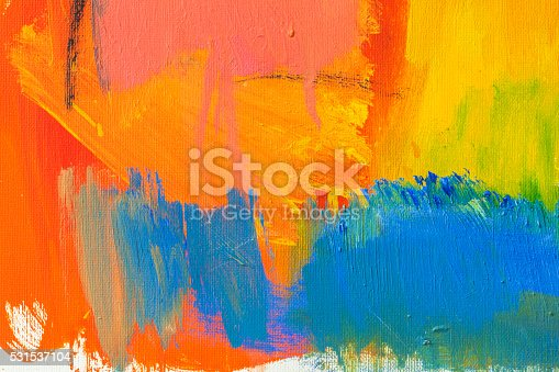 istock Abstract painted red green and blue art backgrounds. 531537104