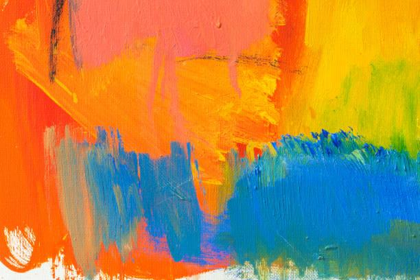 abstrato pintado de vermelho, verde e azul de fundo de arte. - colorful background - fotografias e filmes do acervo