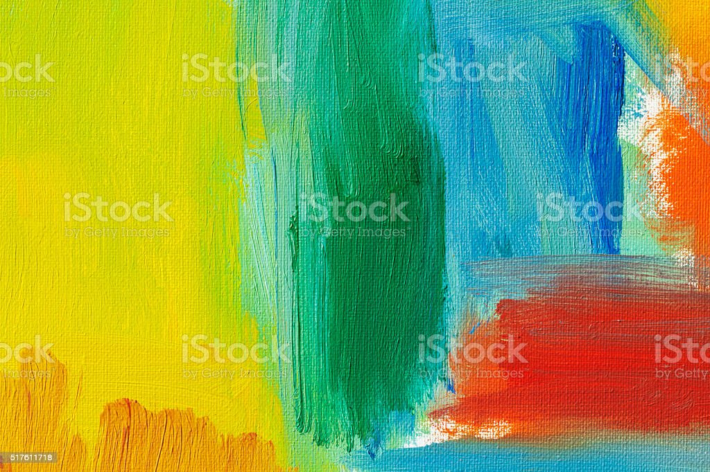 Abstract painted red green and yellow art backgrounds. stock photo