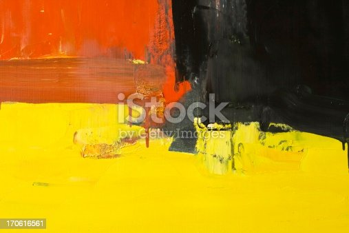 910798810 istock photo Abstract painted red, yellow and black art backgrounds. 170616561
