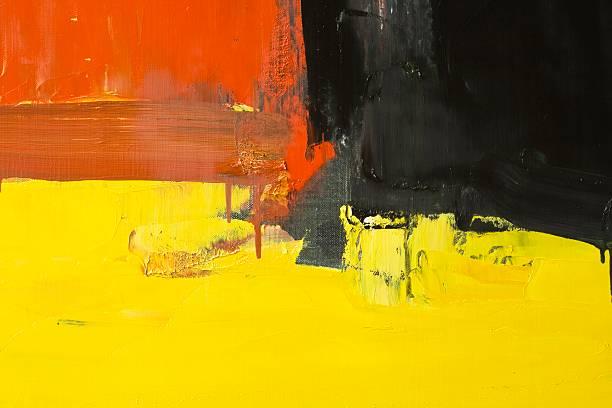 abstrakte rote, gelbe und schwarze art hintergründe. - acrylbilder modern stock-fotos und bilder