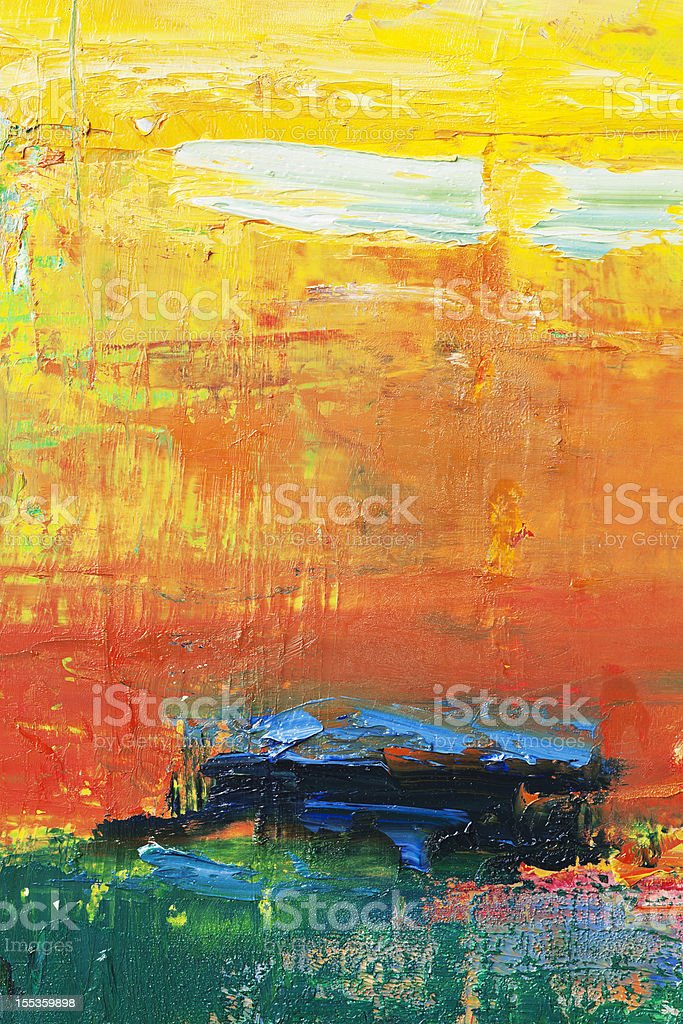 Abstract painted red , yellow and green art backgrounds. stock photo