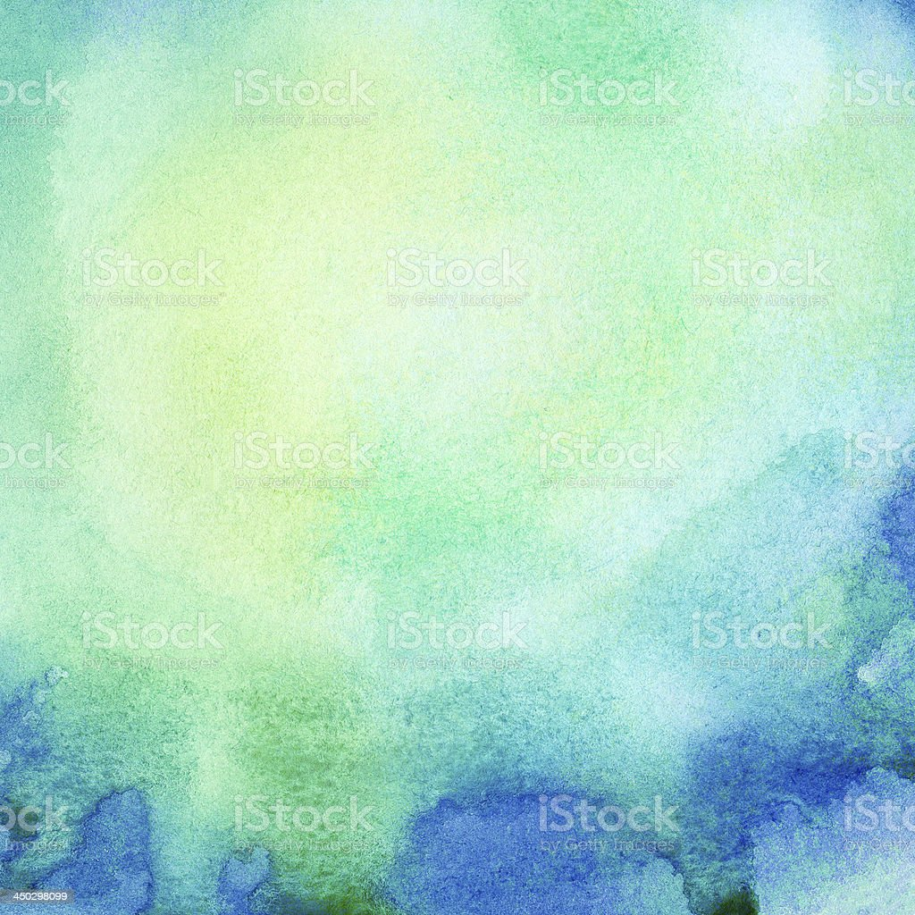 Abstract painted watercolor background royalty-free stock photo