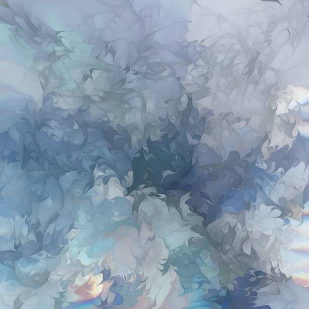Abstract Painted Waves stock photo