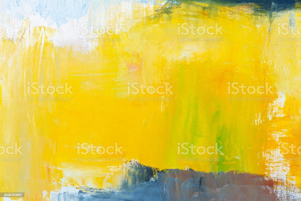 Abstract painted yellow and blue art backgrounds - foto stock