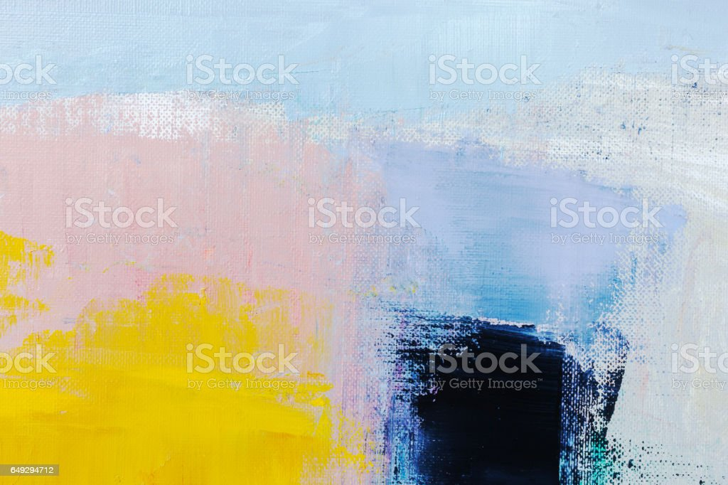 Abstract painted yellow and blue art backgrounds stock photo