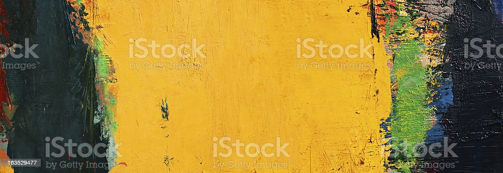 Abstract painted yellow and green art backgrounds. royalty-free stock photo