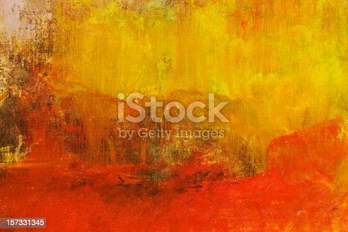 istock Abstract painted yellow and red art backgrounds. 157331345