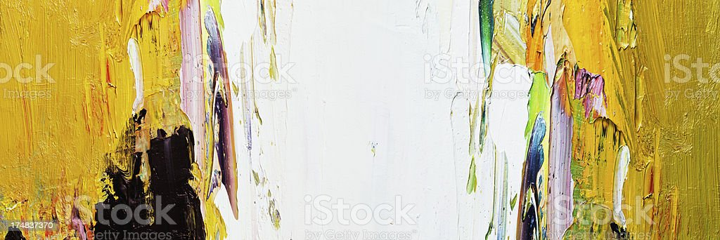 Abstract painted yellow and white art backgrounds. royalty-free stock photo