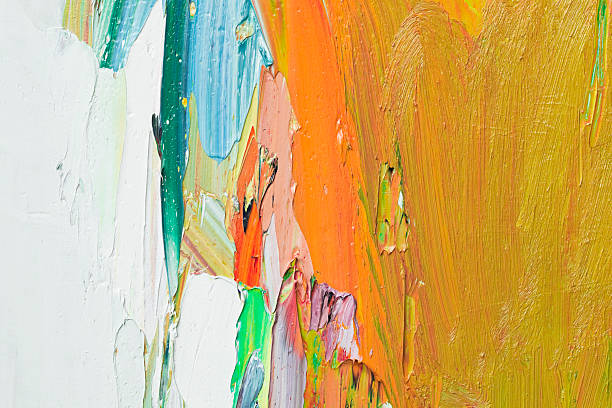 Abstract painted yellow art backgrounds. stock photo