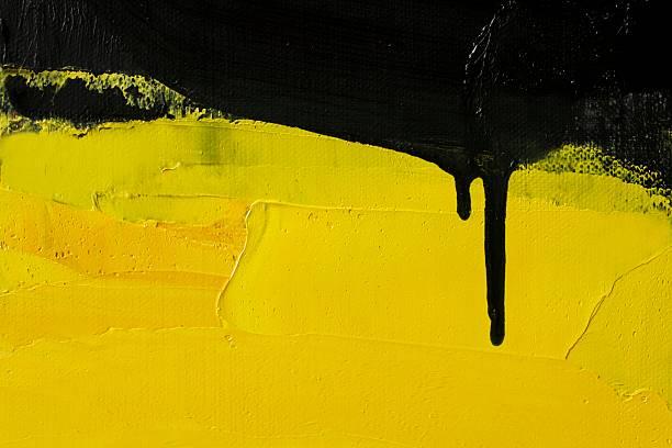 abstrakt gemalte gelbe art hintergründe. - ölgemälde modern stock-fotos und bilder