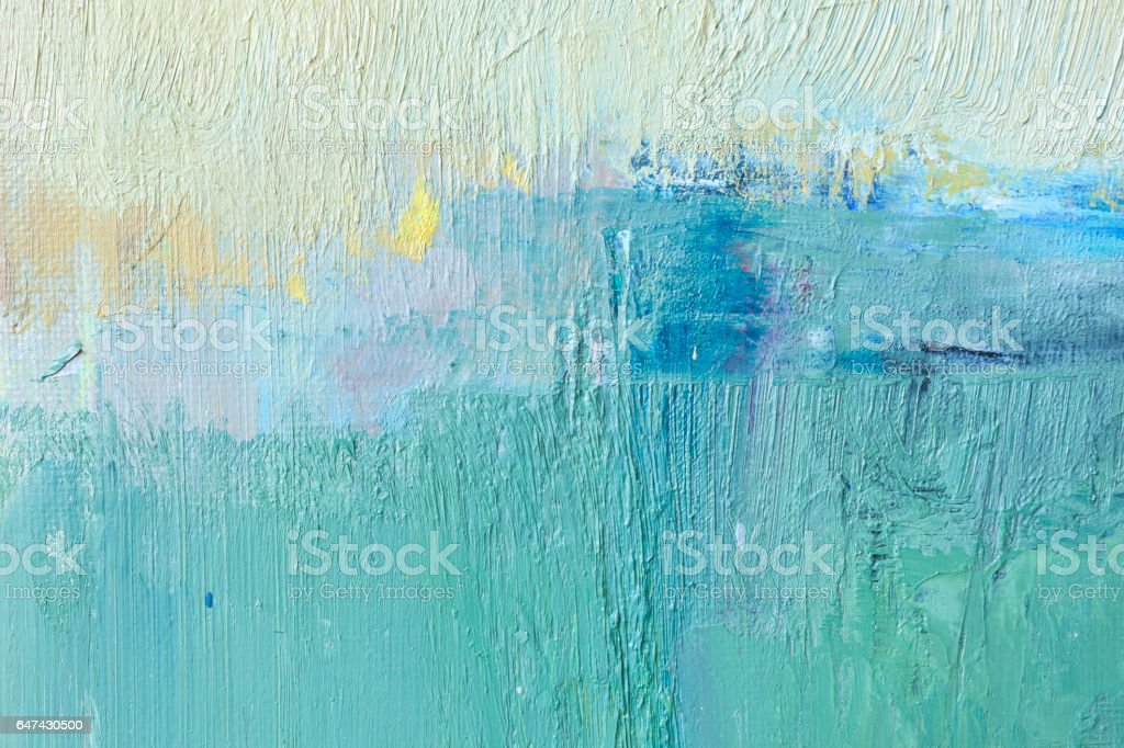 Abstract painted yellow green and blue art backgrounds. stock photo