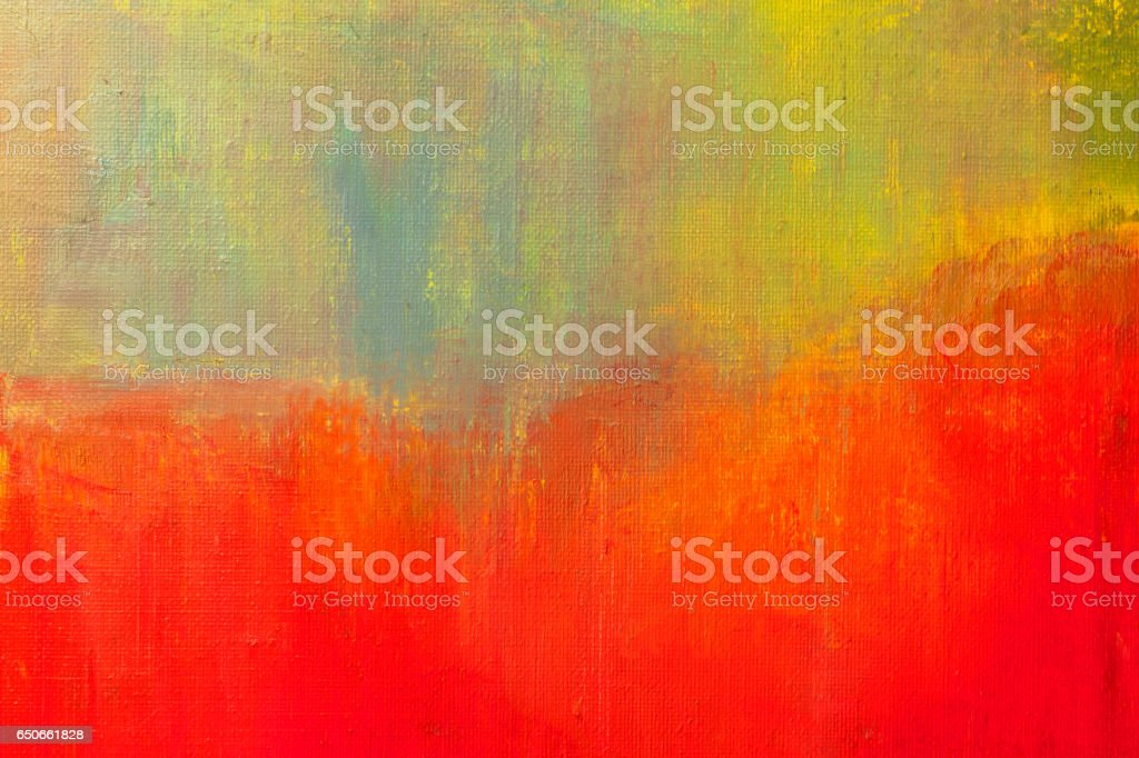 Abstract painted yellow green and red art backgrounds. stock photo