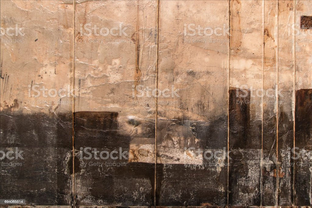 Abstract Painting Art: Beige and Black Colors stock photo