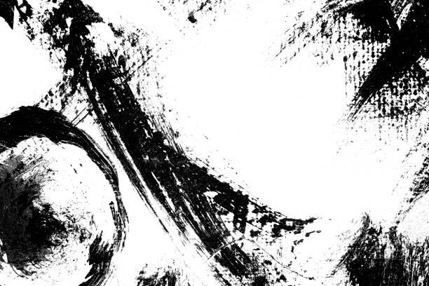 抽象繪畫背景筆觸 - black and white pattern 個照片及圖片檔