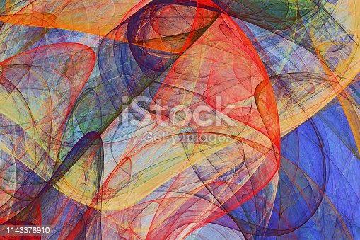 istock abstract painting background of colorful fluttering veils 1143376910