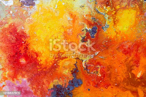 istock Abstract painting color texture. Bright artistic background in r 1016832920
