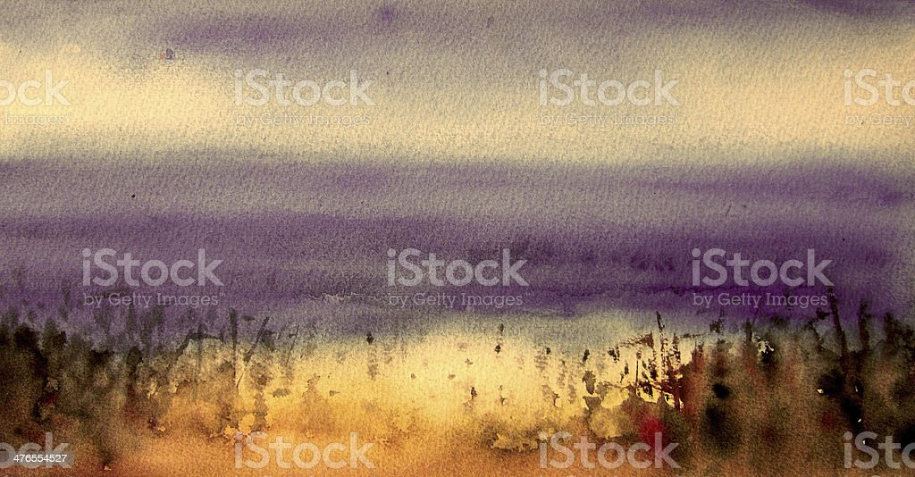 Abstract painting with purple and white background royalty-free stock photo