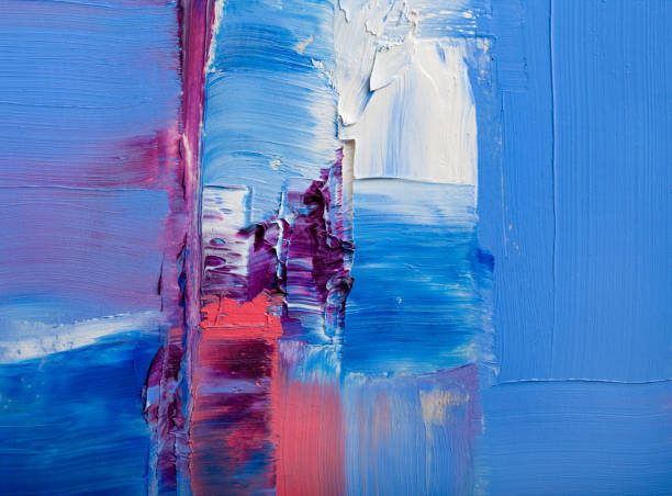 peintures abstraites. dessinés à la main peinture à l'huile. texture de couleur. - art moderne photos et images de collection