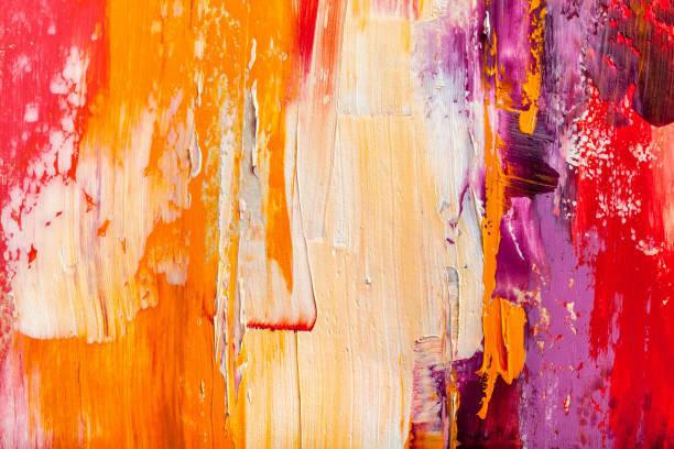 soyut tablolar. elle çizilmiş yağlıboya. renk dokusu. - tuval üzerine akrilik stok fotoğraflar ve resimler