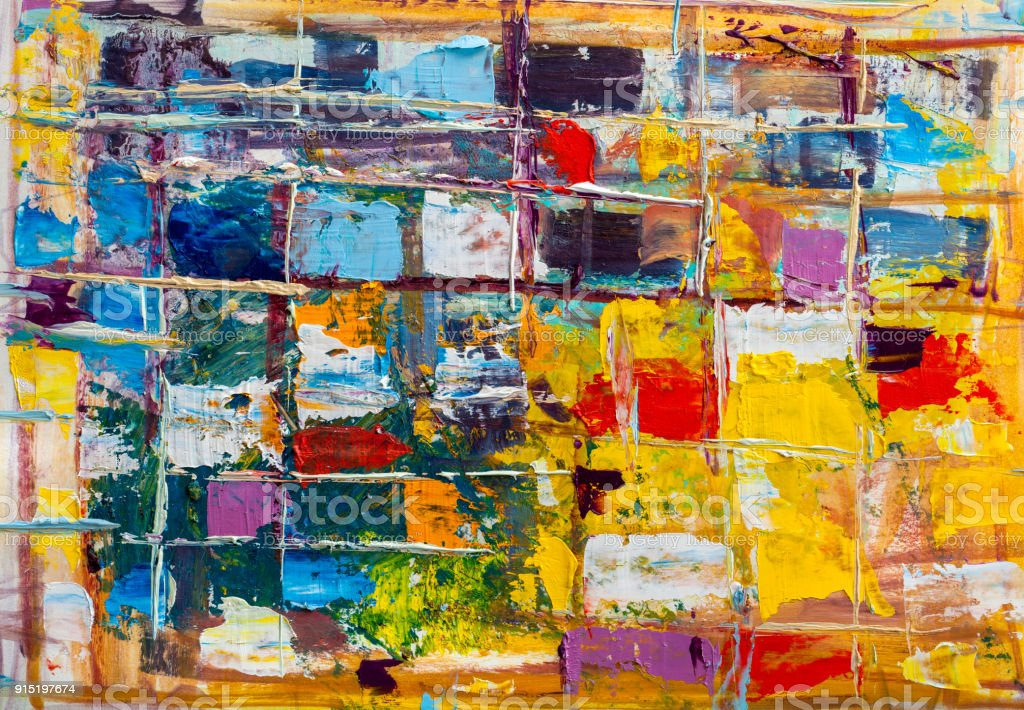 Abstract paintings. Hand drawn oil painting. Color texture. stock photo