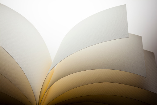 Abstract macro photography of paper sheets.