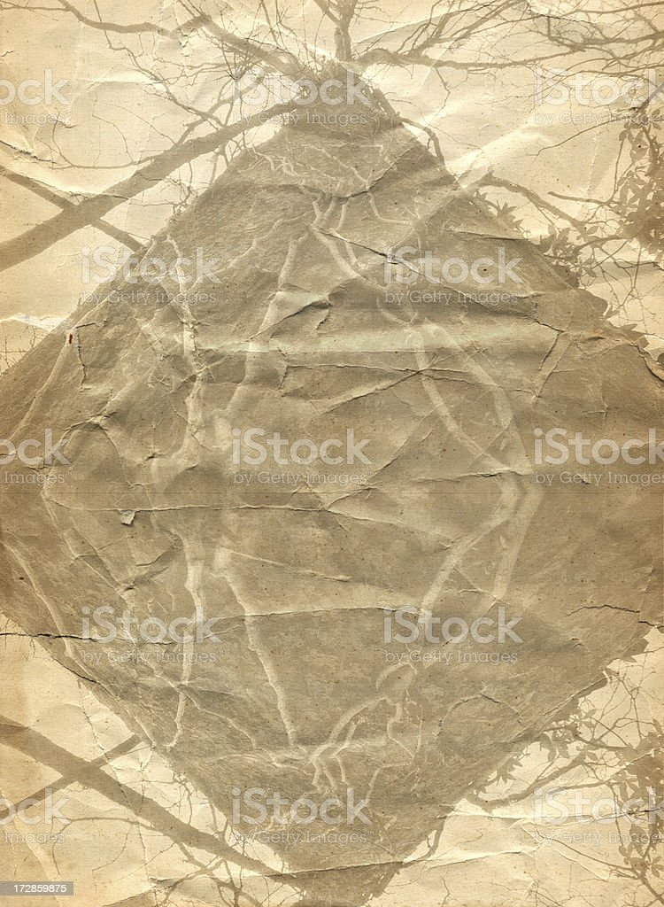 Abstract Paper Layer With Tree Images royalty-free stock photo