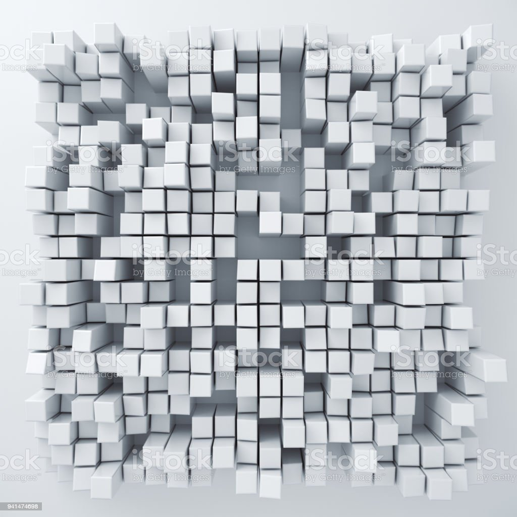 Abstract paper square 3d-render background. stock photo