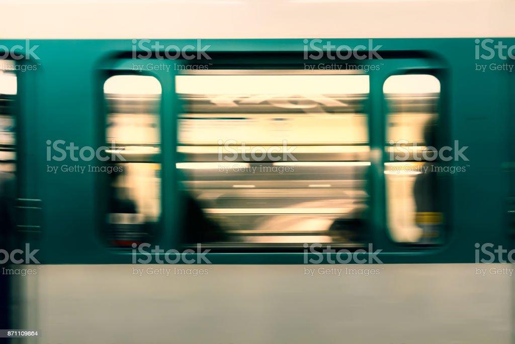 Abstract. Paris metro. stock photo