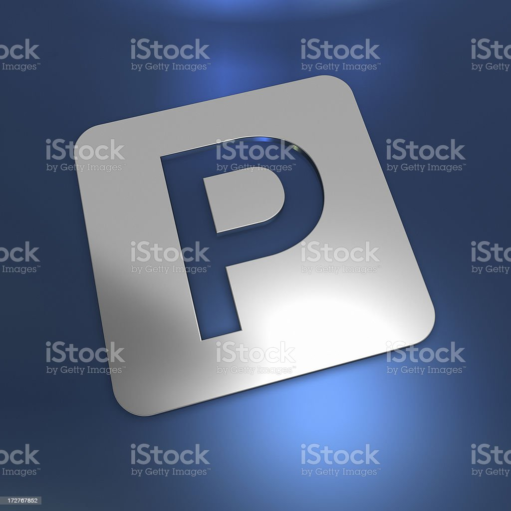 Abstract parking royalty-free stock photo