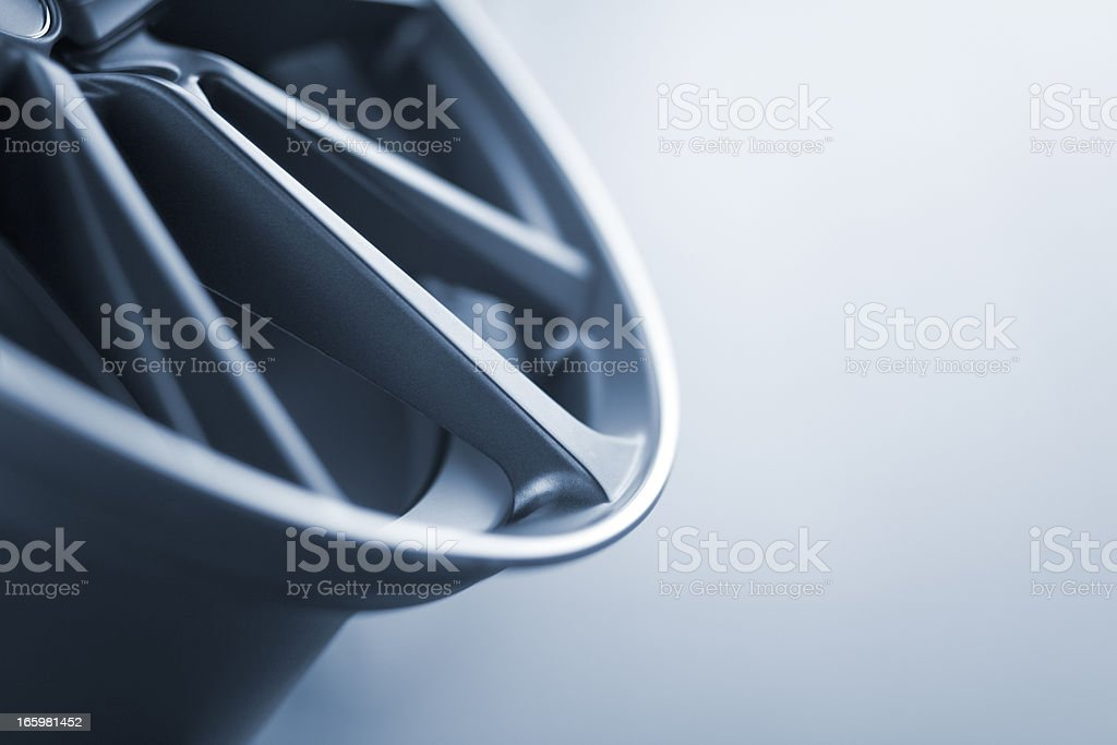 abstract part profil of a new car wheel rim stock photo