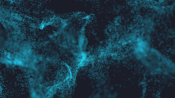 Abstract particle background Abstract background of little blue particles microscopic image stock pictures, royalty-free photos & images