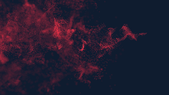 Abstract background of little red particles