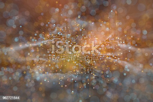 Abstract particle background.