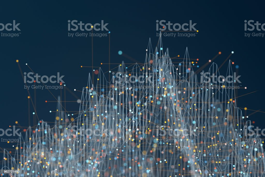 Abstract particle graph background - foto stock