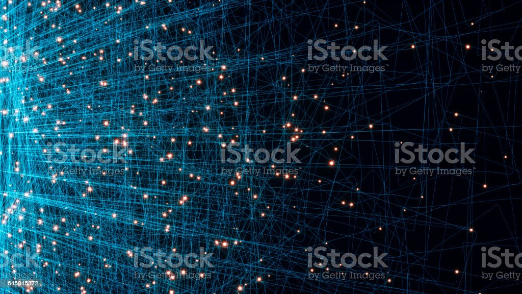 Abstract particles background stock photo