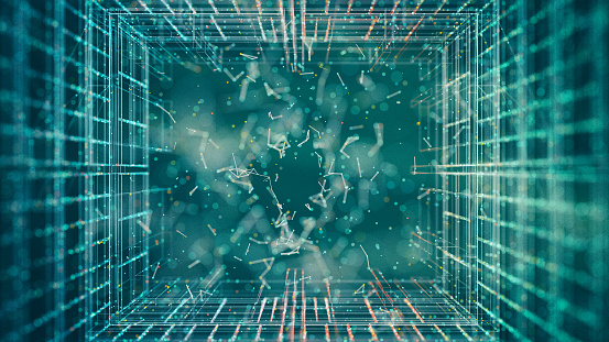 Abstract Particles Stock Photo - Download Image Now
