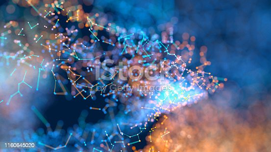 899255516istockphoto Abstract particles 1160645020