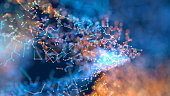 Abstract background of little particles
