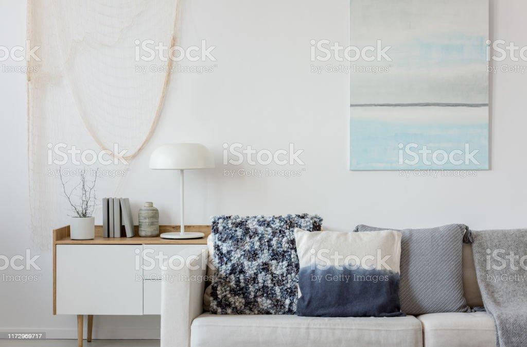 Photo Libre De Droit De Peinture Bleue Et Blanche Abstraite